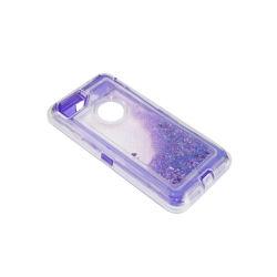 方法デザインカスタムGlittterの紫色の携帯電話の箱