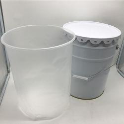 معدن برميل دلو مع كيس من البلاستيك [إينّر لينر]