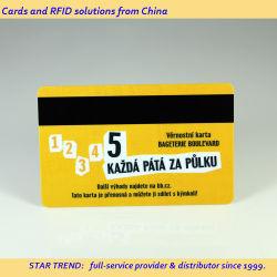 Tarjeta de membresía - PVC/PET/Material de papel, CMYK o pantalla de impresión a doble cara tamaño personalizado, con banda magnética, Chip, el código de barras, banda de la firma, de alta calidad