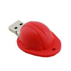 習慣PVCヘルメットの形USBのフラッシュ駆動機構