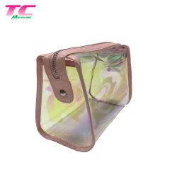 Customized Transparent Waterproof Clear Plastic Travel PVC Maeup Cosmetic Bag with Zipper(사용자 정의 투명 방수 투명 플라스틱