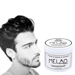 تصنيع شعر بومد للرجال -- متوسطة الإمساك & شديد اللمعان -- صيغة الشعر لشعر مستقيم ، سميكة وكعري