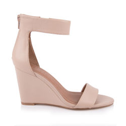 La moda de alta calidad correa de la cuña de sandalias de mujer