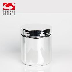 10oz de HDPE cromado de plástico para a indústria farmacêutica da tampa do vaso de prata