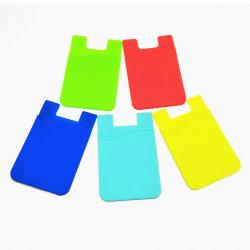 Diseño Pop ecológica personalizado desmontable silicona adhesivo 3m Sticky Identificador Universal titular de la tarjeta de crédito por teléfono celular móvil