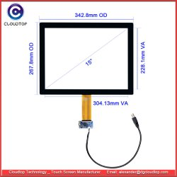 15-дюймовый сенсорный экран Procap от сенсорный датчик на заводе с помощью пользовательских возможностей