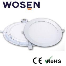 AC86-265V Feu de panneau ronde à LED pour l'hôpital avec homologué UL