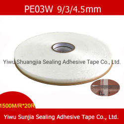 이동할 수 있는 밀봉 지구, 각자 스티키 접착 테이프, 비닐 봉투 (PE03W)를 위한 PE 부대 밀봉 테이프