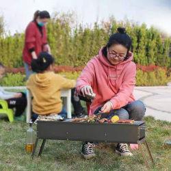 Portátil plegable de acero laminado en frío de alta dureza, resistencia al fuego del cuadro de color grandes y pequeños Barbacoa