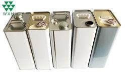 l'olio per motori impaccante vuoto del barattolo di latta 3L può con il Interno-Rivestimento