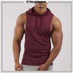 Parti superiori superiori del muscolo degli uomini del Tan di forma fisica di ginnastica delle magliette giro collo del cotone