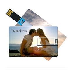 Carte de crédit stick USB à mémoire flash de classe10 8 Go de capacité 16g 32gfull Pendrive USB étanche (TF-0024)