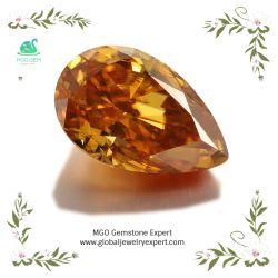 5*7mm 1カラット緩いシャンペンかチャーミングな宝石類を作るためのカラーDefのナシのMoissaniteのこはく色ダイヤモンド