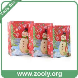 Casella di carta di nuovo di disegno natale del pupazzo di neve