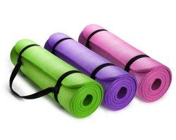 Yugland Eco-vriendelijke TPE NBR Non Slip Fitness-oefenmat met Draagriem Workout Mat Pilates en Floor Oefeningen Folding Yoga Mat