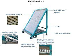 Chariot de tri du verre de harpe harpe pour rack de verre en verre ou en feuille de plaque de verre verre