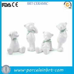 presente de promoção de cerâmica Mini-White Bear pequenas figuras