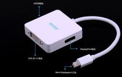 3 في 1 Mini DisplayPort إلى DisplayPort/HDMI/DVI Adapter (SH8054)