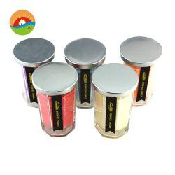 Forma de cilindro de promoción de la vela de Jar mayorista