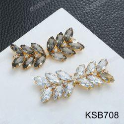 Venda por grosso de cristais de moda freios nas sapatas Rhinestones Enfeites Encantos Fivelas para calçado para senhora