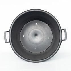 De plástico duro resistente 10-30 galones Pot Macetas de flores de color negro vivero de grandes ollas de PP/HDPE
