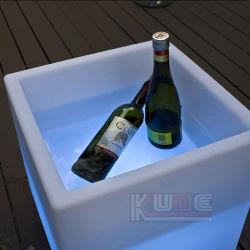 Balde de gelo em cubos de mudança de cores Automático Recipiente Cerveja de Boca Aberta
