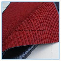 Decorativo, comercial, hotel, uso en exteriores y estilo de la raya de poliéster superficie de la alfombra con el apoyo PVC