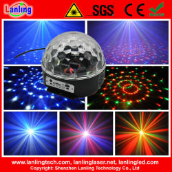 6W Rgbywv cristal LED Boule disco lumière MP3 avec télécommande