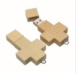1GB- 64GB Houten Kruis USB-flashgeheugen