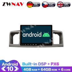 Px6 4+64GB Android 10.0 Lecteur multimédia pour voiture Toyota Corolla 2010-2014 Navi GPS Radio Stéréo Navi IPS Unité de tête d'écran tactile