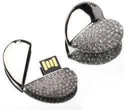 Forme de coeur bijoux lecteur Flash USB (OM-C113)