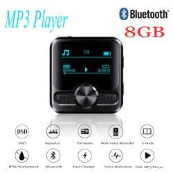 Deportes HiFi Bluetooth Reproductor de MP3 Altavoces Auriculares Bluetooth Grabadora de voz