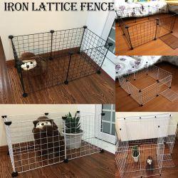 Corralito cerco de hierro plegable Pet Kennel Cachorros Casa Entrenamiento cachorro gatito perros espaciales suministra los conejos jaula Cobaya
