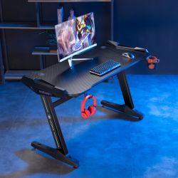 Venda por grosso PC de jogos de computador de mesa de corridas com RGB LED acende e mesa de jogos para o gamer