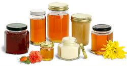 Jarra de cristal de gama alta para la miel, mermelada, alimentos, pepinillo botellas de vidrio