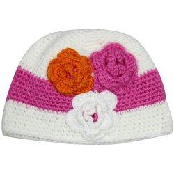 Bebé ganchillo Beanie Hat Flor