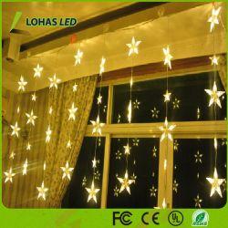 2.5mの星の気分の形のクリスマスの装飾のハングロープLEDストリングライト
