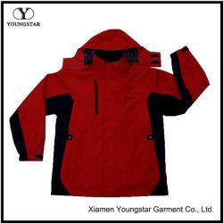 Mens vermelho e preto de Piscina Windbreaker casaco de Inverno