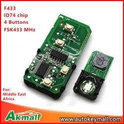 Schaltkarte-Vorstand-intelligenter Fernschlüssel ohne Shell für 271451-0500 Toyota 433MHz mit 4 Tasten