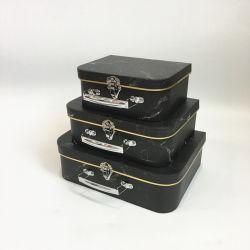 Het drie-Stuk van het Karton van de Kleur van vlekken de In het groot Marmeren Reeks Van uitstekende kwaliteit van de Koffer, de Doos van de Opslag voor de Hulpmiddelen van Kinderen of Andere Kruidenierswinkel