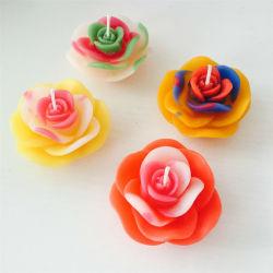 Forme de fleur de l'artisanat faits de moule des bougies pour salle de bains décoration