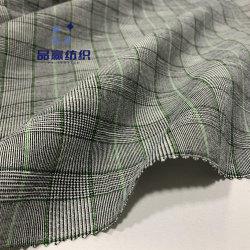 Ym2072スパンデックスオーダーメイドのスーツのための小切手によって編まれるデザインポリエステルリネンElastineファブリック