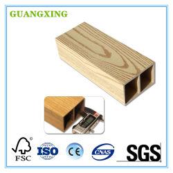 La madera de alta resistencia tubo compuesto de plástico para el uso de interiores y exteriores