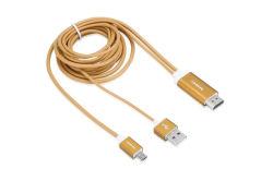 USB di Mhl del metallo di 1.8m micro al cavo di HDMI 1080P HDTV