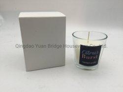 屋内芳香のためのガラス瓶の暗いチェリー及びMyrrhの芳香のSoy Waxの組合せによってなされる150mlによってかぎつけられる蝋燭