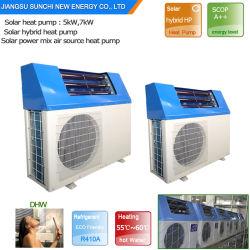Ménage msme 60deg. C 220V 5KW 260L, 7KW 300L, 9KW 500L économiser 80 % d'énergie de la COP de la pompe à chaleur air5.32 hybride solaire Système de chauffage central