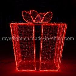 Gran piscina Caja de regalo de Navidad 3D de la luz de Motif cuadro presente Motif Lights