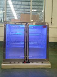 Двойной поворотный стеклянные двери на задней панели с радиатора охлаждения пива из нержавеющей стали сертификат CE Сделано в Китае