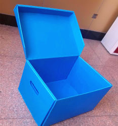 PP du Coroplast Boîte en plastique PP bleu Feuille pour Emballage 4mm