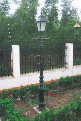 Дешевые парк утюг литой детали для освещения улиц дома сад